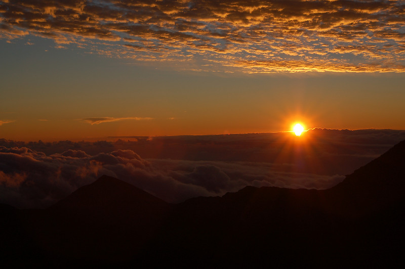 Sunrise from Haleakala.  Had to get up pretty early to get this picture...