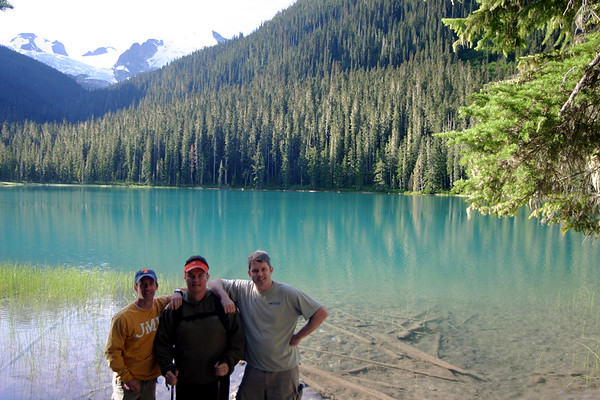 After a quick 2 minutes of hiking, we arrived at Lower Joffre Lake. The lake is easily accessible from the parking lot. As it turns out, this was Scott's favorite lake because it was the closest to the car.