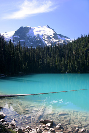 The classic Middle Joffre Lake picture. There was very little wind and the lake looked more like a   piece of stained glass.