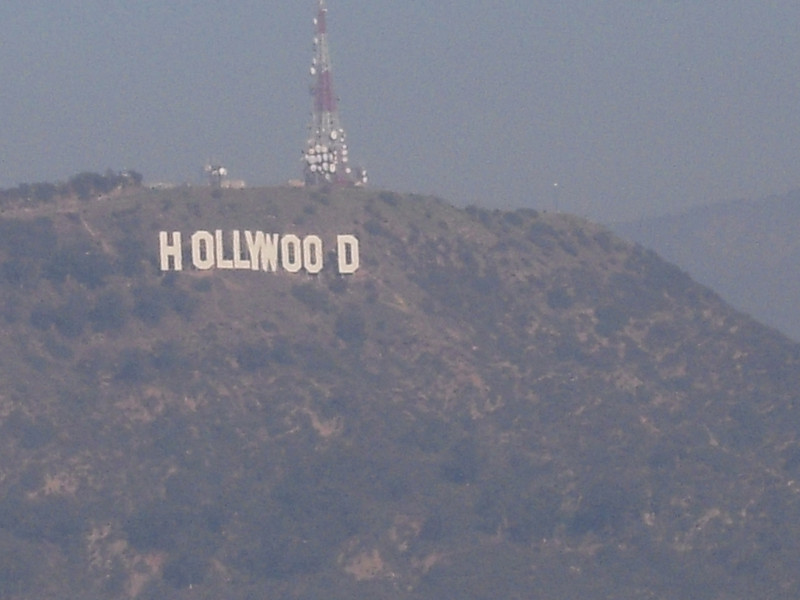 Hollywood sign taken from Runyon Trail