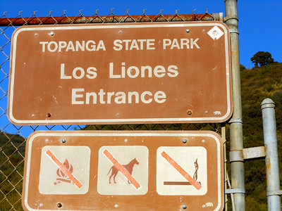 TOPANGA STATE PARK LOS LIONES TRAIL
