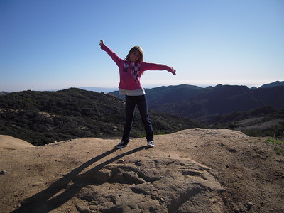 Emi on top of the world.  Eagle Rock