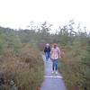 Us walking on the trail through the lake!