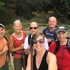Greg Ford invited me to go along for an adventure to the North Fork Broad River in Stevens County, Georgia.  Thanks to Brandi who carries a selfie-stick in her pack, she captured the happy hiking group.  We parked along Hwy 123 just south of the Habersham county line at the gated FR 301.