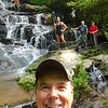 Greg's selfie :  Char at the top left; Kevin in the white t-shirt; Brandi, Rick and Bernie.