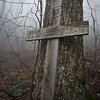"""On a warm and foggy day in February, Renee and I decided to explore the trail.  We didn't take many pictures along the way because of the heavy fog.  We saw a wooden cross and wondered about the memorial.  Renee tracked it down  <a href=""""https://www.gainesvilletimes.com/news/helicopter-crash-in-lumpkin-kills-2/"""">https://www.gainesvilletimes.com/news/helicopter-crash-in-lumpkin-kills-2/</a>"""