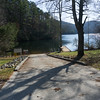 The main road continues for  another 1.3 miles to Tugaloo Lake. Georgia Power has built a very nice boat ramp.  The road is very steep, it is winding and there are several places where steepness and loose gravel may cause traction problems for rear wheel drive vehicles.