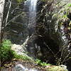 The bottom of this waterfall is located around the 3600 foot level. It is a good  climb up from the trail.