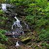 "We began by visiting the waterfall on the unnamed tributary.  The tributary heads up on Hickory Nut Ridge near Hickory Knob.   Mark Oleg and Greg Ford recently named the waterfall ""Hickory Knob Falls.  Oleg's trip report can be seen here      <a href=""http://www.hikingtheappalachians.com/trail-reports/chinquapin-branch"">http://www.hikingtheappalachians.com/trail-reports/chinquapin-branch</a>"