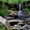 """Stevens County, Georgia.  Greg Ford told me about this waterfall.  Locals have named it """"Contentment Falls"""".  Although there is a trail  to an overlook directly on top of the waterfall, and many heavily used trails in the area, the waterfall is relatively unknown."""