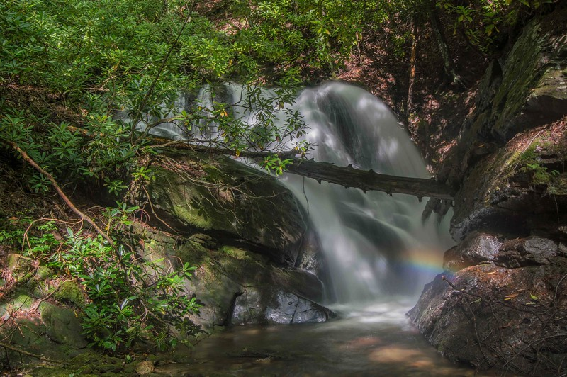 An isolation shot of that waterfall taken by Renee.  Notice the rainbow!
