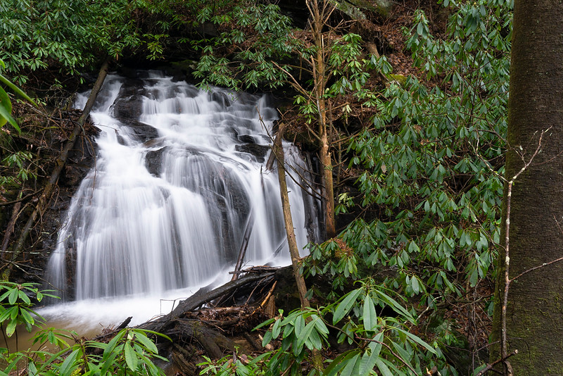 This is a very nice waterfall.  About 18-19-20 feet high.