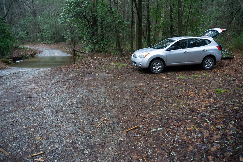 This time, I parked in a pull-out just before the ford on FR 244.