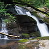 About 12 -13 feet high, this little waterfall makes a lot of noise!  Coordinates are 34.91022, -83.30764