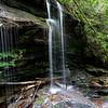 This 22 foot waterfall is the terminus of an unnamed feeder stream.  Coordinates are 34.91041, -83.30718