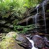 A shot  taken a little bit downstream  from the falls.