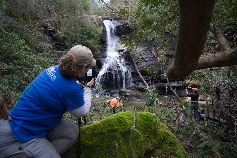 """Still early in the afternoon, the gang agreed to visit Goldmine Branch before calling it a day.  For my account of how to find this waterfall, see <br />   <a href=""""https://mtnimages.smugmug.com/Hiking-With-Mtnimages/Goldmine-Branch-Rabun-County/"""">https://mtnimages.smugmug.com/Hiking-With-Mtnimages/Goldmine-Branch-Rabun-County/</a>"""