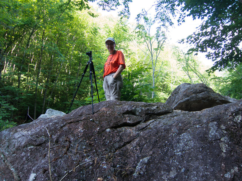 Yesterday (7 Jun 14) , Brenda, Andy, John and I hiked in to High Falls on the West Fork of The Tuckasegee River
