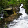 This is an outstanding waterfall on Hoods Creek in Rabun County.  I  accessed it from Walnut Fork Road (FR 155) in Warwoman Wildlife Management Area.