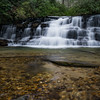 At only ten feet high, the Upper Falls is showy with good water flow.