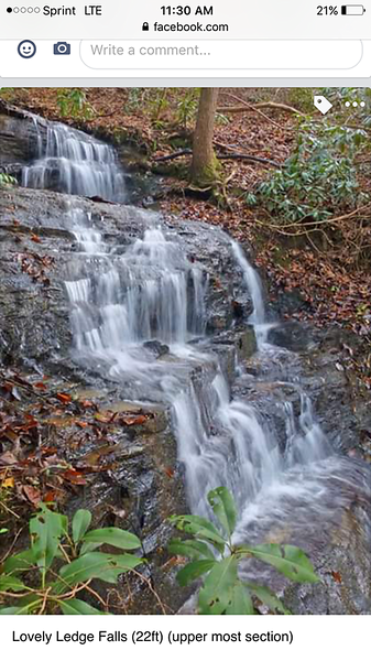 """""""Lovely Ledge Falls"""".  Photo by Greg Ford"""