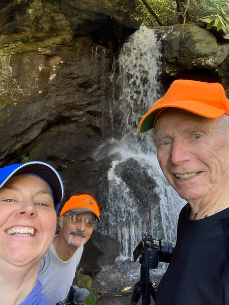 Renee's selfie at Hope Diamond gets three of us.