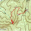 The GPS track from yesterday's hike.