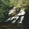 Kilby Mill Falls in my earlier visit; February, 1997.  The big log is still there 19 years later.