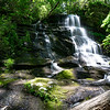 "Greg calls this 23 foot waterfall  ""Peaceful Falls""."