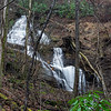 """Mike Hiler named this waterfall """"Crumbly Knob Falls"""" and this picture was taken from the coordinates of 34.74060, -83.72807."""
