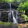 This is the second of two waterfalls that I hiked to in the headwaters of Lick Log Creek in Rabun County.