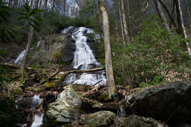 "On my first hike to the tributary that is  north of the stream that ""Upper DeSoto Falls"" is on, I located this very big waterfall around the 2440 Foot elevation."