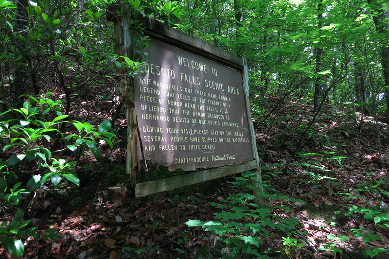 After finding the trail, I  followed it up the mountain through several switchbacks before arriving at this old sign.