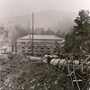Stekoa Creek crosses US Hwy 23/441 eight or nine miles north of the Tallulah Gorge.   A mile or so upstream from the Tallulah Dam is the Terrora Hydro Plant.  This photograph shows  the Terrora Hydro Plant nearing completion in 1925.