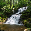 Just downstream is a fifty yard long cascade bracketed by two 20 foot waterfalls.  This waterfall is the one farthest downstream.