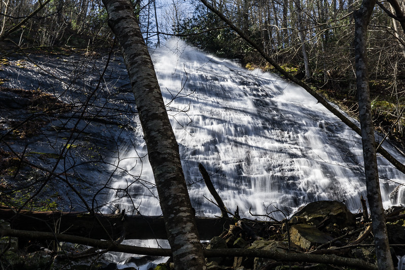 "According to folks posting on Alan Cressler's Flickr site, many people have fallen to their death at Nottely Falls   <a href=""https://www.flickr.com/photos/alan_cressler/2289795211"">https://www.flickr.com/photos/alan_cressler/2289795211</a> . From what I can tell, there is no view from the top of the waterfall and people rooting around trying to find a view, end up slipping and going over the waterfall.  As such, access to the top is STRICTLY OFF LIMITS. The only view is from the bottom and getting to the bottom is a treacherous scramble.  Only seasoned hikers with off trail experience should attempt this hike."