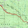 The GPS track shows that the upper falls is near the 2720 foot level.