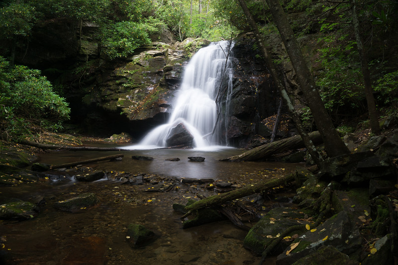 This is what that waterfall looks like from creek level. (Shot taken from an earlier hike)