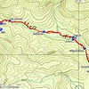 "My initial explorations to the Left Fork were a struggle.  Since then, I have worked out an ""easy"" route to reach the headwaters area.  This topo with the most recent GPS tracks show the route that I have been using."