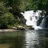 """A shot showing some of the pool.  Located at 34* 48' 03"""" N;  -83* 19' 20"""" W,   my guess is that the waterfall is 33 -35 feet high.  A beautiful waterfall  that very few people see."""