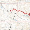 Here is the GPS track plotted on a National Forest Service topo.