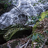 """Once I saw how nice the waterfall was, I made a beeline for it.  No back pack, no water, no wide angle lens, no tripod, and no venue-enhancing tools (clippers/saw).  Bad decision!  I """"shoulda' went back and got""""  my pack."""
