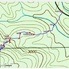 """This is the track to Emerald Falls. The way point""""Split"""" on this map is the same as """"Small Draw"""" on the map to Jewel Falls."""