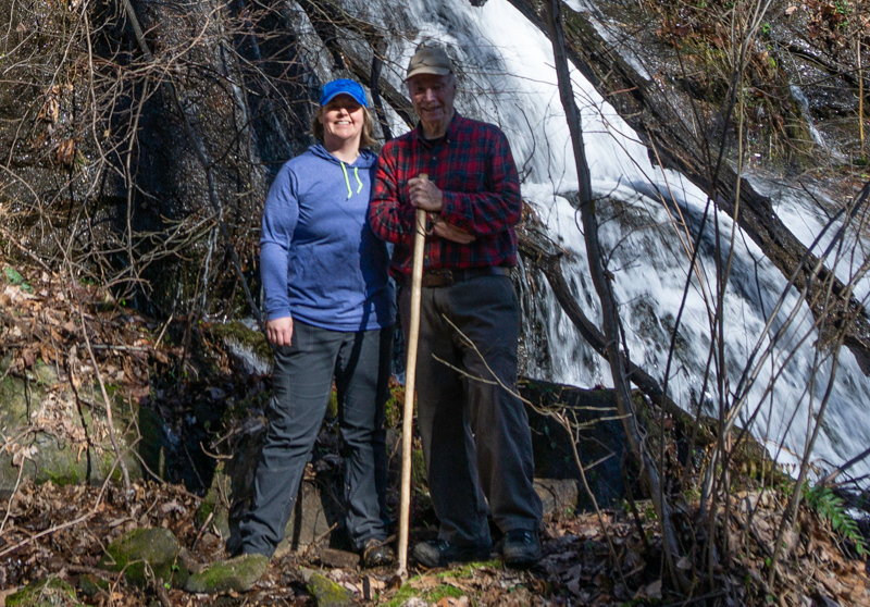 On a bright and sunny day  in February, Renee and I did a little exploring in the southeast watershed of Horse Range Mountain.