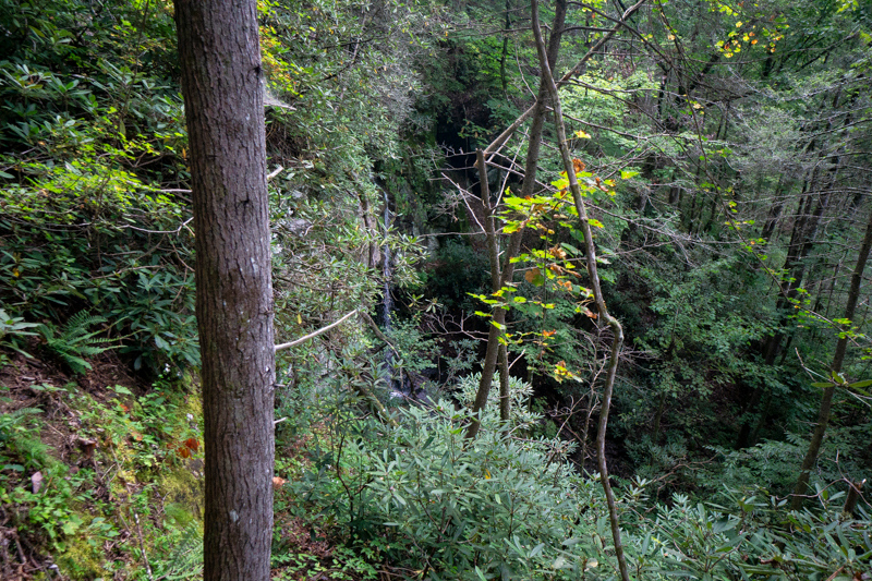 And this, is the waterfall!  Extremely steep terrain around the waterfall.