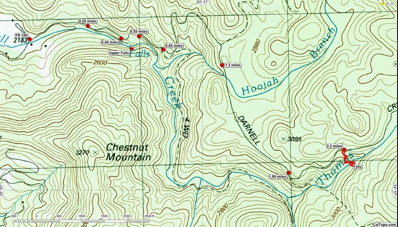 I had two places in the Darnell Creek valley I wanted to investigate.