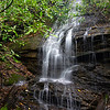 """The """"free fall"""" portion of the waterfall is about 12 feet and the """"slide"""" portion at least 20 feet high."""