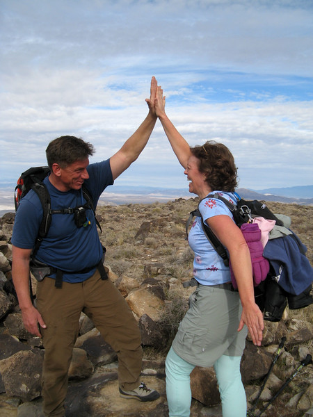 Tom and Kathy M. Kathy's first desert peak! Congrats, Kathy!