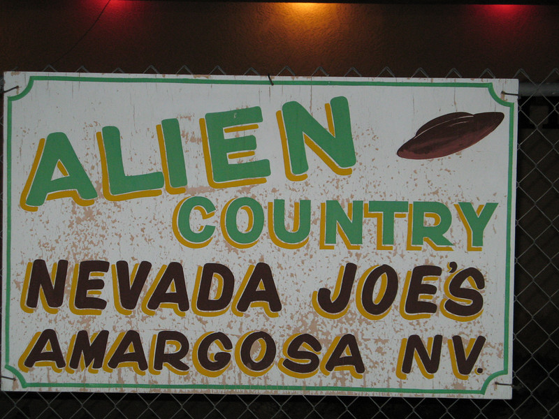 "Sign. There was more going on over here than aliens, there's also ""The Cherry Patch II ""  where  you can get a different kind of entertainment!"