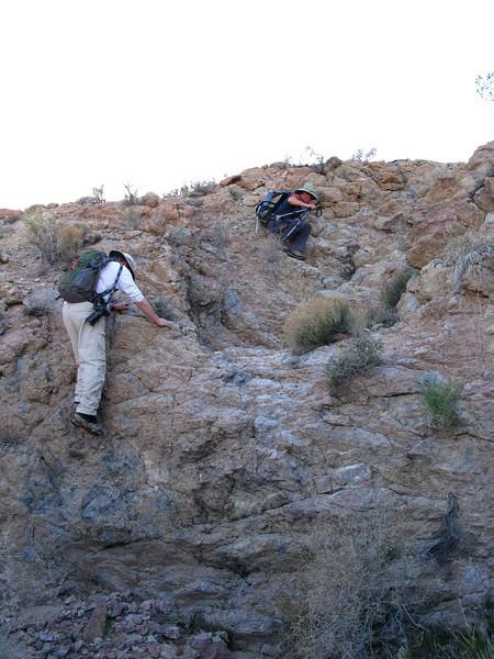 climbing up and around